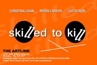 Skilled to Kill Art Show - Postcard,