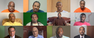 Stills from Question Bridge: Black Males, Hank Willis Thomas, Bayeté Ross Smith, Chris Johnson, Kamal Sinclair