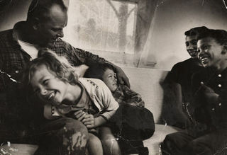 Richard and Mildred Loving with their children Peggy, Donald, and Sidney in their living room, Caroline County, Virginia, Grey Villet