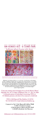 ice cream art | a fresh look solo show,Kellyann Gilson Lyman