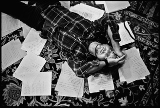 Eddie Vedder (Laying on Floor with Lyrics), Seattle, WA,,Danny Clinch