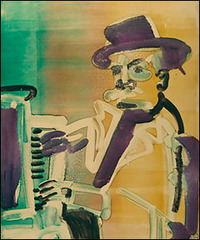 At the Clef Club (Piano Player), Romare Bearden