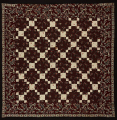 Bedcover (Nine Patch Quilt),  New England or Mid-Atlantic, United States,