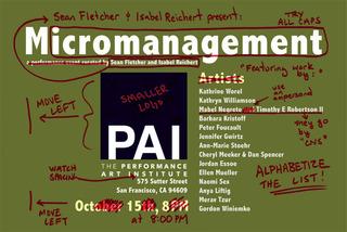 Micromanagement,