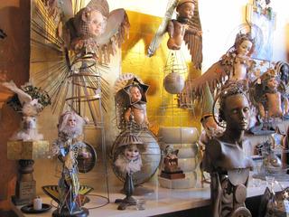 Installation of assemblage pieces, Ruth DeNicola