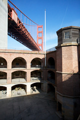 The Golden Gate Bridge from Fort Point,