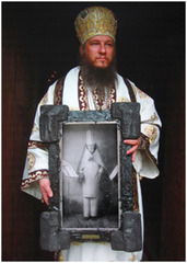 Was ist Kunst Hugo Ball (Bishop Metodij Zlatanov,  Metropolitan of the Macedonian Christian Ortodox church, with Hugo Ball), Irwin