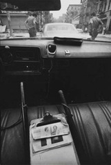 """New York City, From Inside a Police Auto. Police Check Autos for Wanted Man,"" , Leonard Freed"