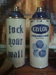 Ceramic Spray Paint Cans, Jesse Edwards