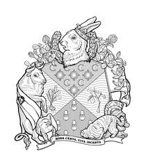 European Rabbit, from the series Heraldic Crests for Invasive Species, Marina Zurkow