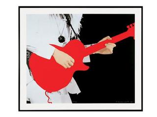 Person with Guitar (Red)   ,