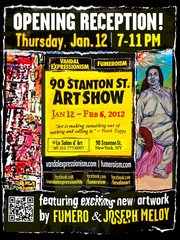 Official event poster for the 90 Stanton Street Art Show,