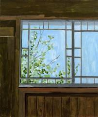 Barn Window - Blue Sky, Lois Dodd