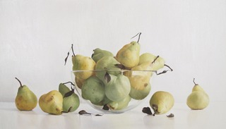 Pears with Glass Bowl II , Randall W. L. Mooers