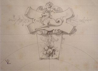 Design for Stone carving, Viollet-le-Duc