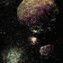 Planetary_bodies_latex_oil_on_glass_21