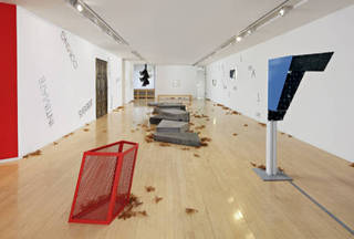 Installation View, Martin Boyce, Robert Barry