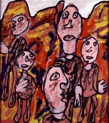 Paysage avec personnages (T 10), Jean Dubuffet