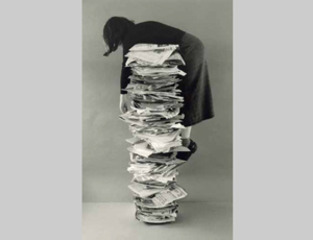 Self-portrait with Files,Kim Abeles