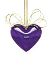 Hanging Heart Violet, Jeff Koons