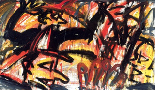 "Painting from ""A Play Called Fire"", Red Grooms"