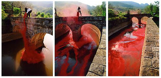 Fighting the Flood - Red Flag Canal (Triptych), Wang Jin