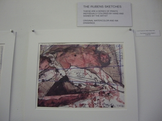 Homage to Rubens - print colored by hand, Jorge Posada