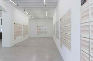 Sunrise/Sunset (installation view) , Hanne Darboven