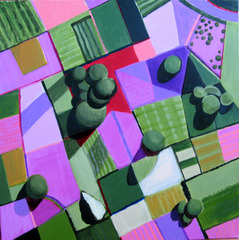 Pink and Green Fields, Toni Silber-Delerive