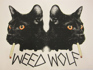 Smoking Cats,Weed Wolf