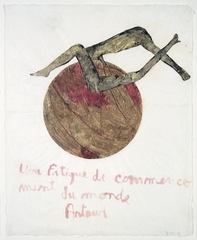 Artaud Painting – Une fatigue de commencement du monde , Nancy Spero