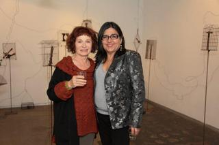 Maddy LeMel and Linda Vallejo at Suspended States opening, Maddy Le Mel, Maddy LeMel