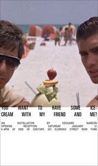 Would you like to have some ice-cream with my friend and me?,