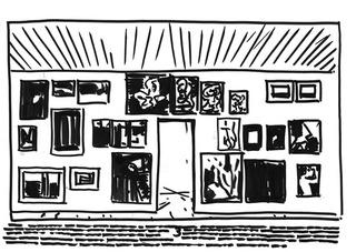 Exhibition sketch , Armen Eloyan