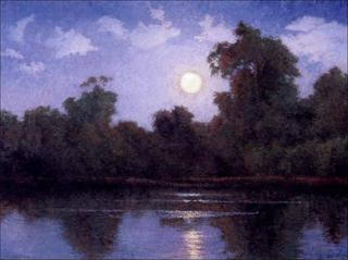 Moonrise over Bixby Slough, Stephen Mirich