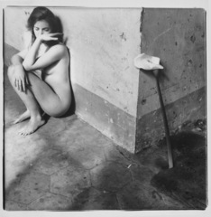Francesca Woodman in a self portrait. Untitled 1977-78 (Rome),