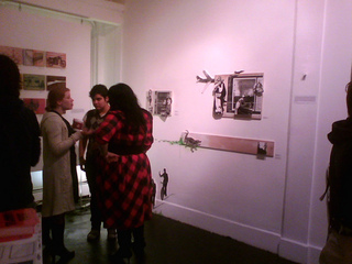 opening of Morbid Fantasies, Michelle Rothman, & Shireen