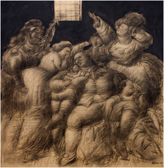 """Louis XVI and His Family in Prison (after an Old Engraving)"" , Fernando Botero"