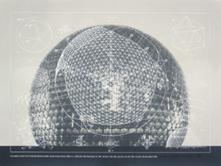 Building Construction/Geodesic Dome, United States Patent Office no. 2,682,235, from the portfolio Inventions: Twelve Around One ,Buckminster Fuller
