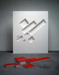 Malevich: with eight red rectangles, Buzz Spector