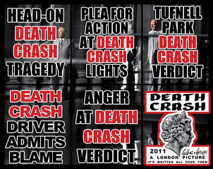 DEATH CRASH, From: London Pictures,Gilbert & George
