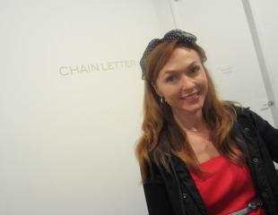 The artist at Chain Letter, Bergamot Station, Natalie Gray