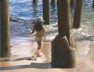 Little Jessica and Her Hat Malibu Pier, Randy Sprout MA MFA
