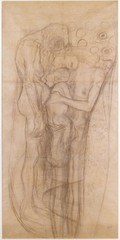 "Sketch for ""The Three Ages of Woman"",Gustav Klimt"