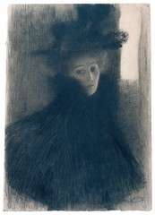 Portrait of a Lady with Cape and Hat, Gustav Klimt