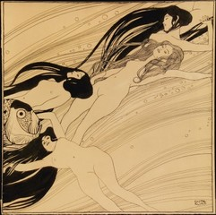 "Fish Blood (Illustration for ""Ver Sacrum""),Gustav Klimt"
