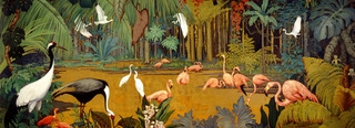 Mural from the Oaks Hotel (detail), with Cornelius Botke,Jessie Arms Botke
