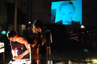 Art by Telephone, on-going performance with Rebecca Lamarche Vadel, Art Masel Miami Beach 2010 at the Delano Hotel.,Cécile B. Evans