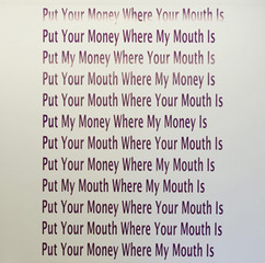 Put Your Money Where Your Mouth Is, Georgia Sagri