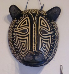 Lion mask, Embera tribe, Panama